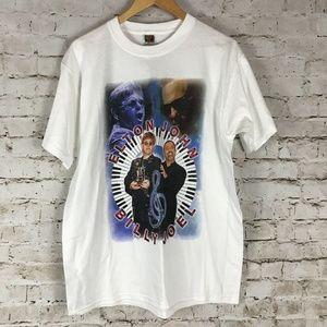 Elton John and Billy Joel Tour T-Shirt Size Large